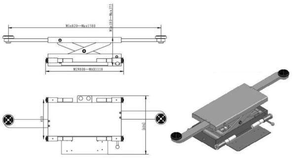 Achsfreiheber – Modell Druckluft Premium