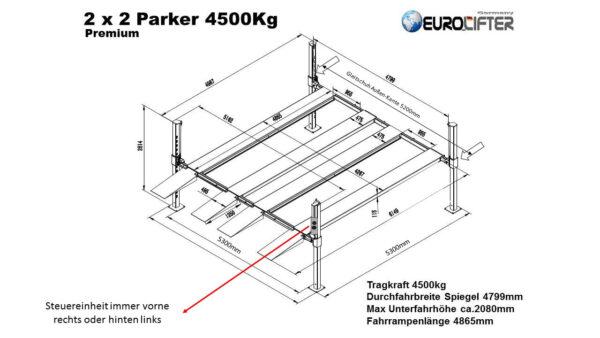 Doppelparker 4er Exklusive mit Stahlböden