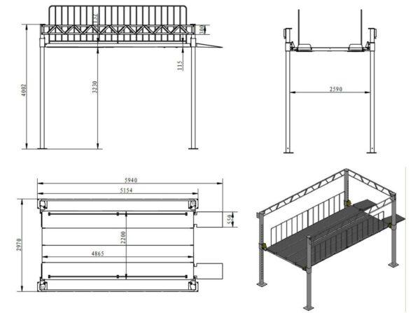EuroLifter Etagenlift Technische Zeichnung