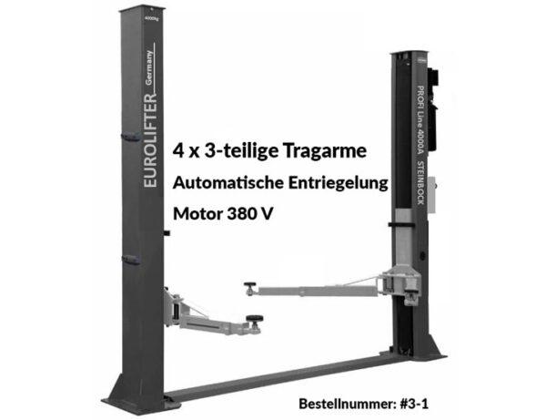 2 Säulen Hebebühne – Modell Profi 4000A 4×3