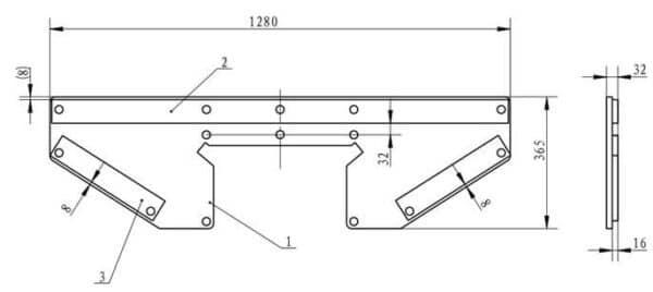 Grundplatten Verstärkungen Technische Zeichnung