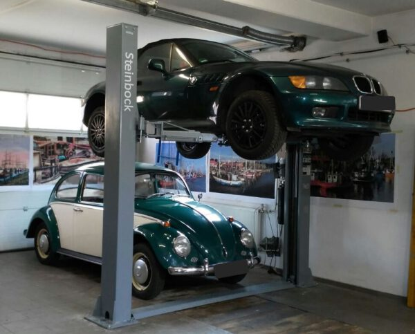 2 post lift for garages - extra narrow