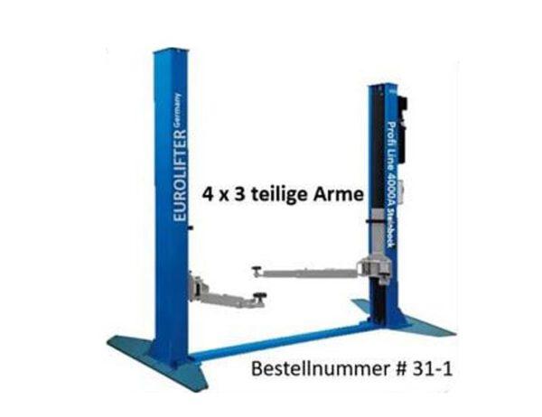 2 Säulen Hebebühne - Modell Profi 4000AG 4x3